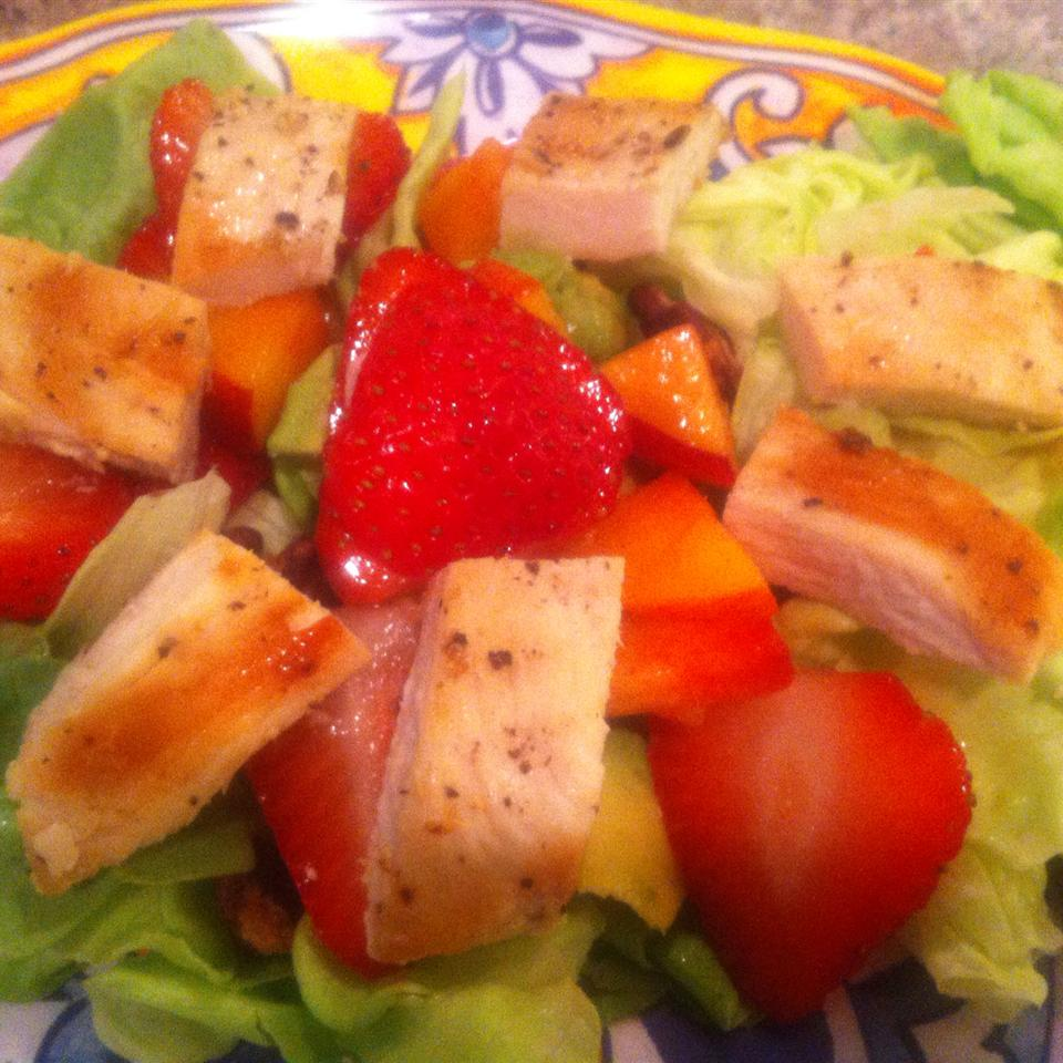 Grilled Chicken Salad with Seasonal Fruit Abigail Anne