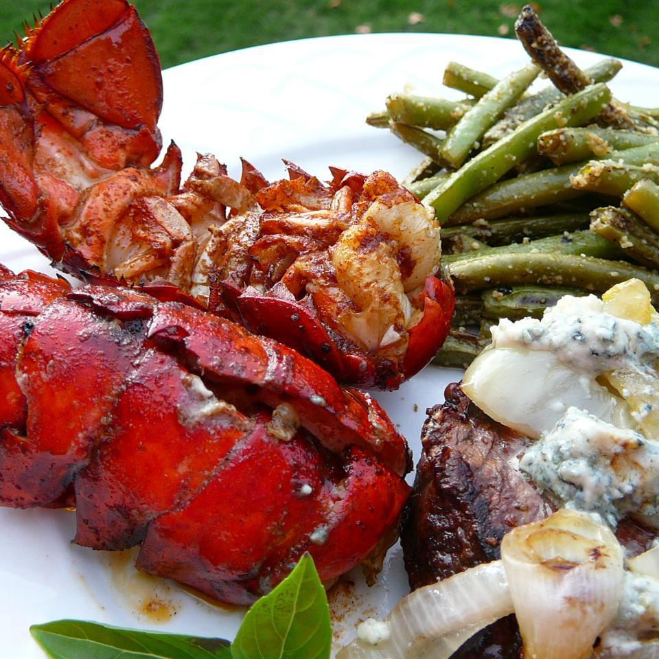 Grilled Rock Lobster Tails