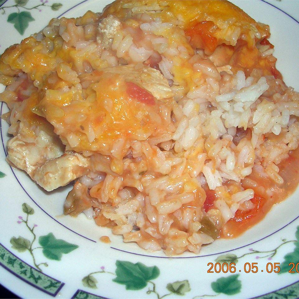 Salsa Chicken Rice Casserole CyndeG