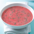 Chilled Strawberry-Rhubarb Soup