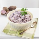 Roasted Garlic Mashed Purple Potatoes