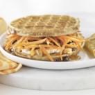 Carrot Cake Waffle Breakfast Sandwich