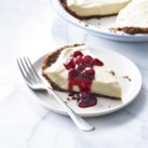 Eggnog Pie with Cranberry Sauce