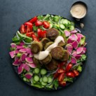 Falafel Salad with Lemon-Tahini Dressing