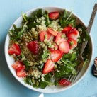 Baby Kale Breakfast Salad with Quinoa & Strawberries