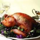 Apple-Shallot Roasted Turkey with Cider Gravy