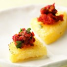 Polenta Wedges with Tomato Tapenade