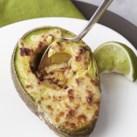 Chipotle-Cheddar Broiled Avocado Halves
