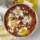 Baked Eggs, Tomatoes & Chiles (Shakshuka)