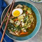 Chicken Ramen with Bok Choy & Soy Eggs