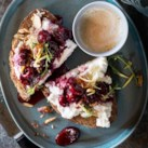 Honey-Roasted Cherry & Ricotta Tartine