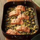 Easy Sheet-Pan Dinners Slideshow - Think baking sheets are just for cookies? Think again. WIth these healthy one-pan dinner recipes, you can make a stir-fry in the oven or roast chicken with Brussels sprouts. You'll need one or two rimmed baking sheets (the rim corrals the food when you stir everything), but in a pinch a metal 9-by-13-inch pan will work just fine. Crank up the oven and heat up the sheets: it's time to re-imagine quick dinners.