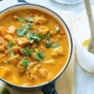 Roasted Cauliflower & Potato Curry Soup