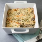 Spinach & Goat Cheese Chicken Tortilla Casserole