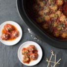 Slow-Cooker Chicken Parmesan Meatballs