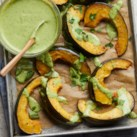 Roasted Squash with Green Tahini