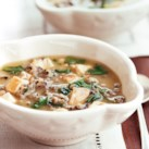 Spinach, Chicken, and Wild Rice Soup