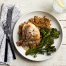 Roast Chicken with Parmesan-Herb Sauce
