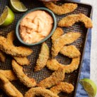 Avocado Fries with Sriracha Aioli