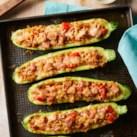 Smoked Sausage-Stuffed Zucchini
