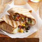 Black Bean-Queso Wraps