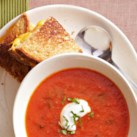 Roasted Tomato Soup and Grilled Cheese Sandwiches