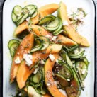 Cantaloupe & Cucumber Salad with Fresh Za'atar