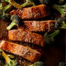 Ginger Roasted Salmon & Broccoli
