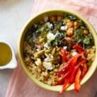 Crispy Chickpea Grain Bowl with Lemon Vinaigrette