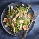 Chicken, Brussels Sprouts & Mushroom Salad