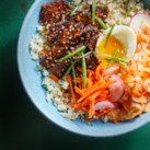 Korean Steak, Kimchi & Cauliflower Rice Bowls