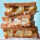 Cauliflower Grilled Cheese with Sun-Dried Tomatoes