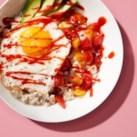 Sriracha, Egg & Avocado Overnight Oats
