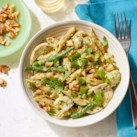 Chicken & Vegetable Penne with Parsley-Walnut Pesto