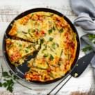 Baked Asparagus & Cheese Frittata