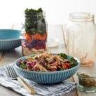 Mason Jar Chicken Salad with Japanese Hibachi Dressing