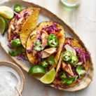 Grilled Chicken Tacos with Slaw & Lime Crema