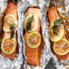 Grilled Lemon-Pepper Salmon in Foil