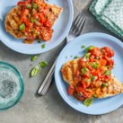 Grilled Chicken Breasts with Tomato-Caper Sauce
