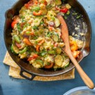 Summer Skillet Vegetable & Egg Scramble