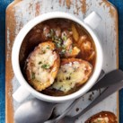 Slow-Cooker French Onion Soup with Gruyère Toasts
