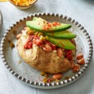 Stuffed Potatoes with Salsa & Beans