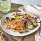 Salt & Vinegar Sheet-Pan Chicken & Brussels Sprouts