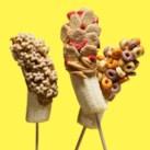 Peanut Butter & Cereal Banana Skewers