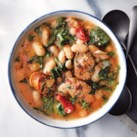 Slow-Cooker White Bean, Spinach & Sausage Stew