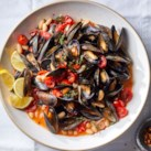 Mussels with White Beans & Tomatoes