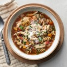 Mediterranean Slow-Cooker Chicken Noodle Soup