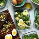 Spinach & Artichoke Salad with Parmesan Vinaigrette