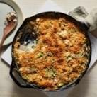 Creamy Mushroom, Chicken & Asparagus Bake