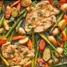 One-Pan Chicken & Asparagus Bake